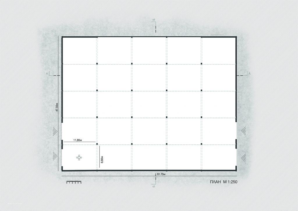 План на съществуващия склад