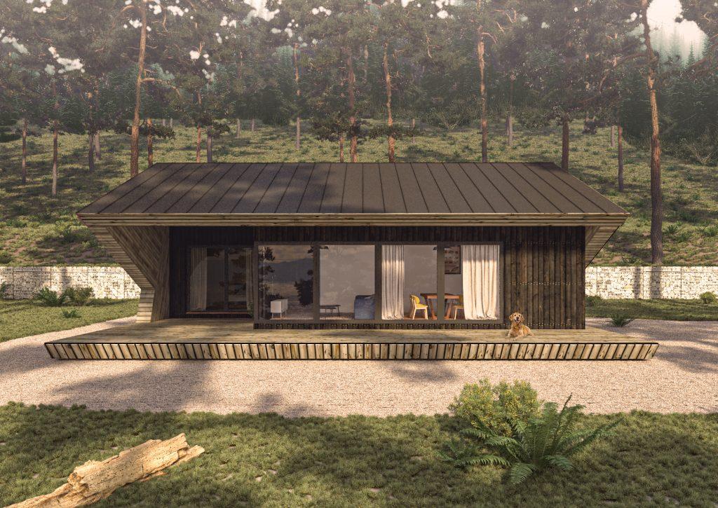 Къща в гора екстериор