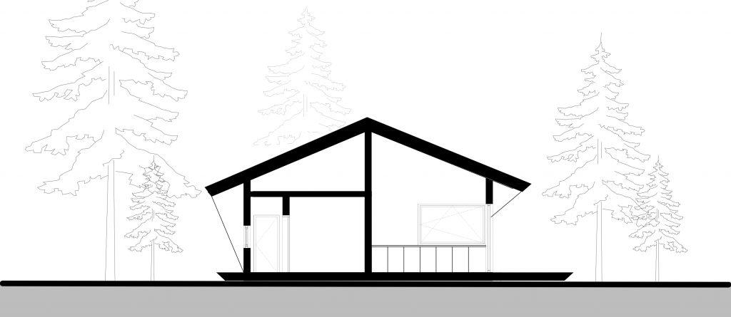Къща в гора разрез